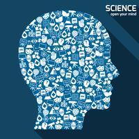 Science areas-concept vector