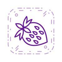 Vector aardbei pictogram