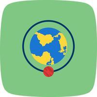 Baan rond het pictogram van de aarde Vector