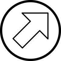 Recht omhoog Vector pictogram