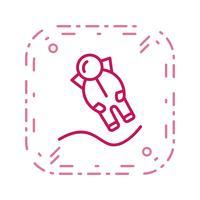 astronout landing vector pictogram
