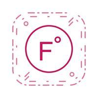 Fahrenheit vector pictogram