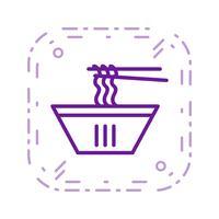 Vector noedels pictogram