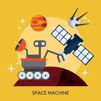 Ruimtemachine Conceptuele afbeelding ontwerp vector