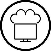 Vector verbonden met het pictogram van de wolk