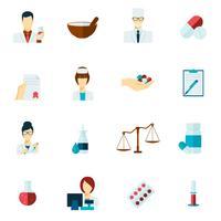 Apotheker pictogram platte set