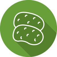 Vector aardappelen pictogram