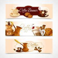 Horizontale koffiebanners vector