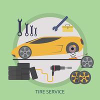 Tyre Service Conceptuele afbeelding ontwerp vector
