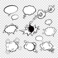 Komische bubbels instellen vector