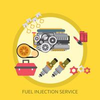 Brandstofinjectieservice Conceptueel illustratieontwerp vector