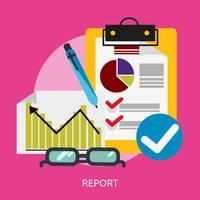 Rapport conceptuele afbeelding ontwerp vector