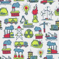 Industrieel schets naadloos patroon