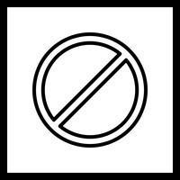 Verboden Vector Icon