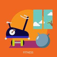 Fitness conceptuele afbeelding ontwerp vector