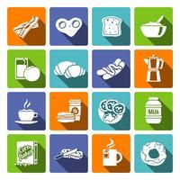 Ontbijt pictogram plat vector