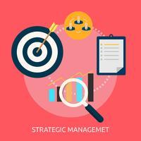 Strategisch Management Conceptueel illustratieontwerp
