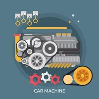 Auto Machine Conceptuele afbeelding ontwerp vector