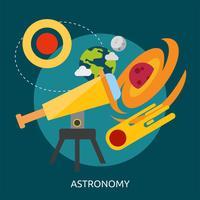 Astronomie Conceptuele afbeelding ontwerp vector