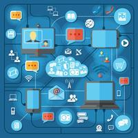 Communicatie technologieën concept vector