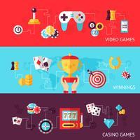 Spel ontwerp banner set