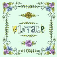 Vintage gekleurd frame