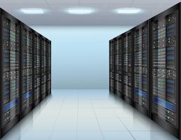 Datacenter-achtergrond vector