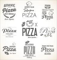 Pizza achtergrond retro ontwerp