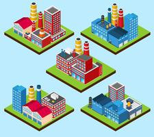 Industriële gebouwen isometrisch