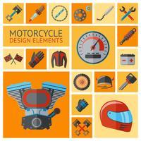 Motorfiets onderdelen instellen vector