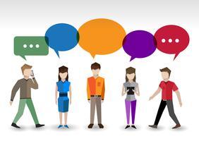 Chat mensen concept