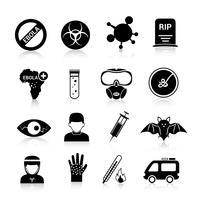 Ebola-virus pictogrammen vector