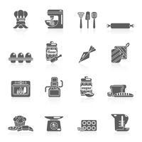 Bakkerij pictogram zwart