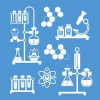 Chemie decoratieve pictogrammen instellen vector
