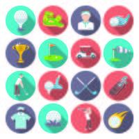 golf pictogrammen instellen vector