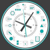 Tijd management klok vector