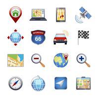 GPS-navigatie pictogrammen