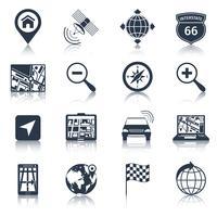 Navigatiepictogrammen Zwart