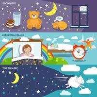 Slaaptijd banners vector