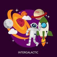 Intergalactisch conceptueel illustratieontwerp