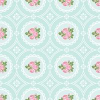 Shabby chic steeg naadloze patroonachtergrond