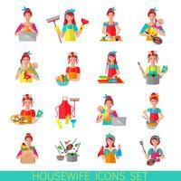Huisvrouw Icon Set