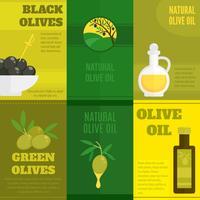 Olijven mini-poster set