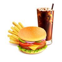 Hamburger friet en cola vector