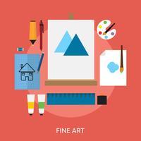 Fine Art conceptontwerp vector