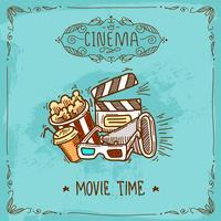Cinema poster schets vector
