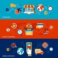 Online winkelen banner set vector