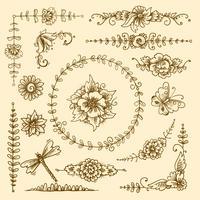 Vintage decoratieve elementen