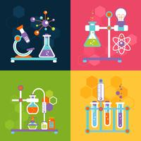 Chemie ontwerpconcepten vector