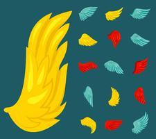 platte vleugel pictogram vector